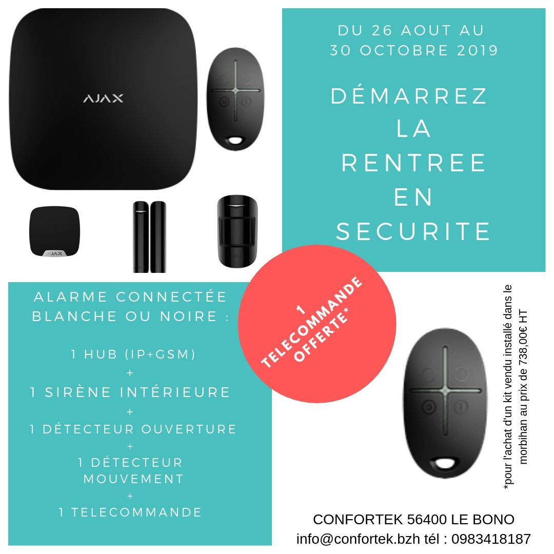 confortek promotion alarme ajax
